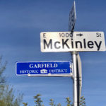 """Garfield Historic District"" street sign"
