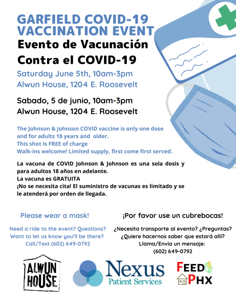 Garfield COVID-19 Vaccination Event Flyer