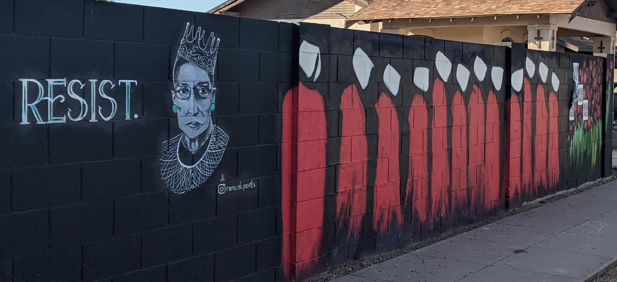 Mural: 9th St between Pierce & McKinley